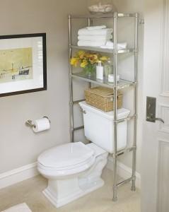 Стаціонарні підлогові полиці для ванної кімнати