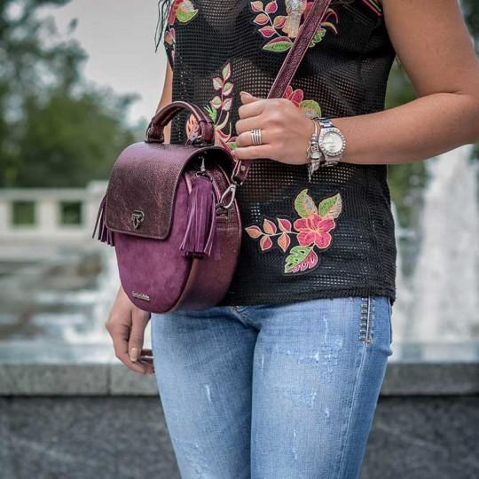 сумки женские бордовые